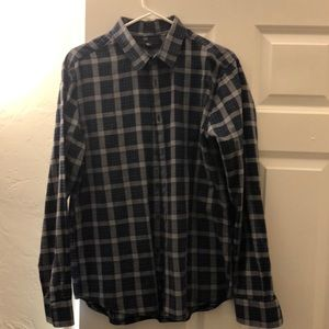 Large Kenneth Cole navy long sleeve button-up